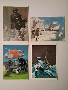 Carte-postale-4-Nicollet-Jano-Cabanes-Forest-Serie-Greenpeace-1984-Ed-Gentiane