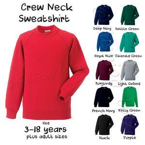 Girls-B-Boys-Unisex-School-Jumper-Sweatshirt-Uniform-Age-3-4-5-6-7-8-9-10-11-12
