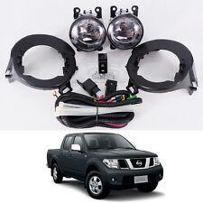 05-14 For Nissan Frontier Navara D40 Clear Lens Fog Light Kit Lamp Abs Bumper