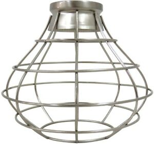 Details About Portfolio 8 38 In H 8 38 In W Brushed Nickel Wire Industrial Cage Pendant Light