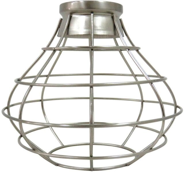 Portfolio 8 38 In H 8 38 In W Brushed Nickel Wire Industrial Cage Pendant Light