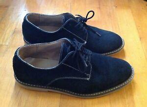 Banana Republic Men's Size 8 Navy Suede Oxford Lace Up Shoes
