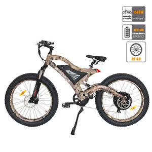 GLW Electric Mountain Bike 1500W 48V 14Ah SAMSUNG Battery 26x4.0 Fat Tire Camo