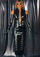 The Federation Rubber Latex Long Skirt Chain & Button Front