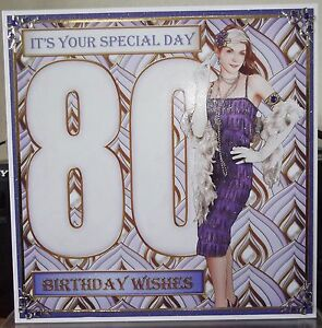 Handmade art deco 80th birthday card fashionable lady in purple ebay image is loading handmade art deco 80th birthday card fashionable lady bookmarktalkfo Image collections