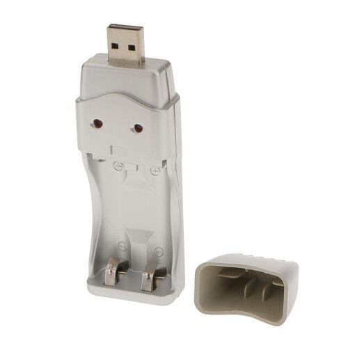 Chargeur de batterie USB pour batteries Ni-MH AA et AAA rechargeables