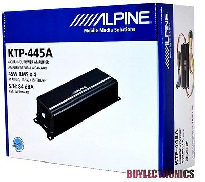 Alpine KTP-445A 4-Channel Head Unit Power Pack Amplifier Class D/ Alpine KTP445
