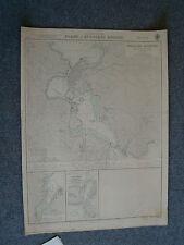 Vintage Admiralty Chart 2802 GREECE - PLANS IN EVVOIKOS KOLPOS - 1955 edition