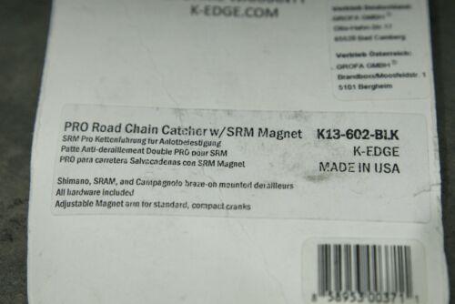 K-Edge PRO Road Schwarz Chain Catcher mit SRM Magnet Kettenführung NOS NEU
