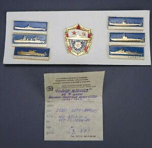 Nouveau-vintage-marine-russe-Pin-Set-World-War-Two-1941-To-1945-URSS-Comite-Central-du-Parti