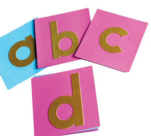 Montessori Educational Language Lowercase Print Font Sandpaper Letters