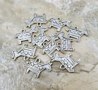 10 Pewter Democratic Donkey Charms - 1002
