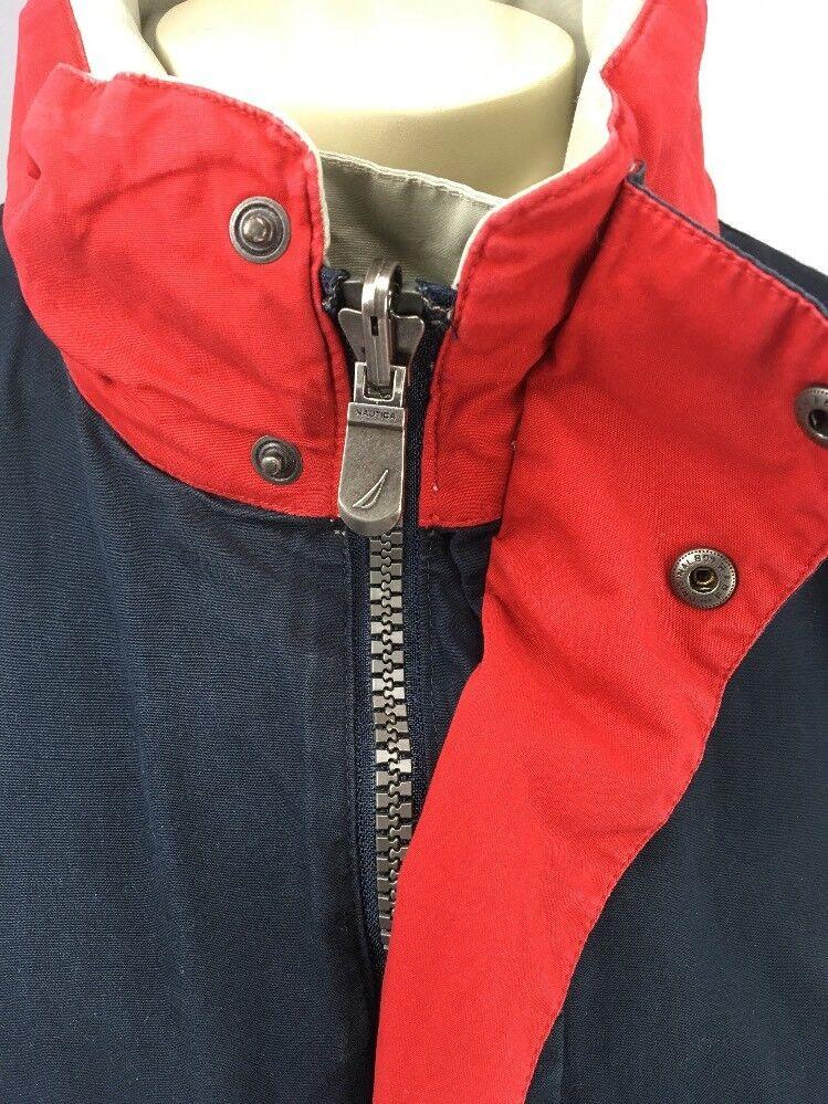Nautica Jacket Vintage Reversible Bomber Men L La… - image 11