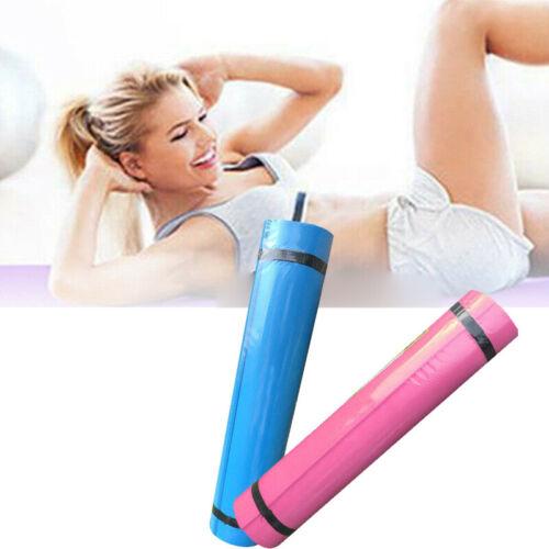 EVA Non-Slip Yoga Mat Exercise Fitness Pilates Camping Gym Meditation NBR Pad UK