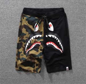 nuovo di zecca d89cc c8746 Details about Hot A Bathing Ape Japan Men's Bape Shark Jaw Shorts Pants  Camo Print Color Pants
