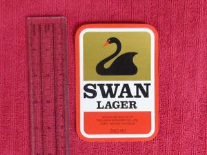 OLD-AUSTRALIAN-SWAN-BREWERY-BEER-LABEL-SWAN-LAGER-740ML-LARGE