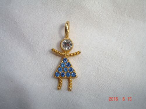 """Birthstone Babies Pave/' Girls 18K.Gold Plated Charms-1 1//4/"""""""