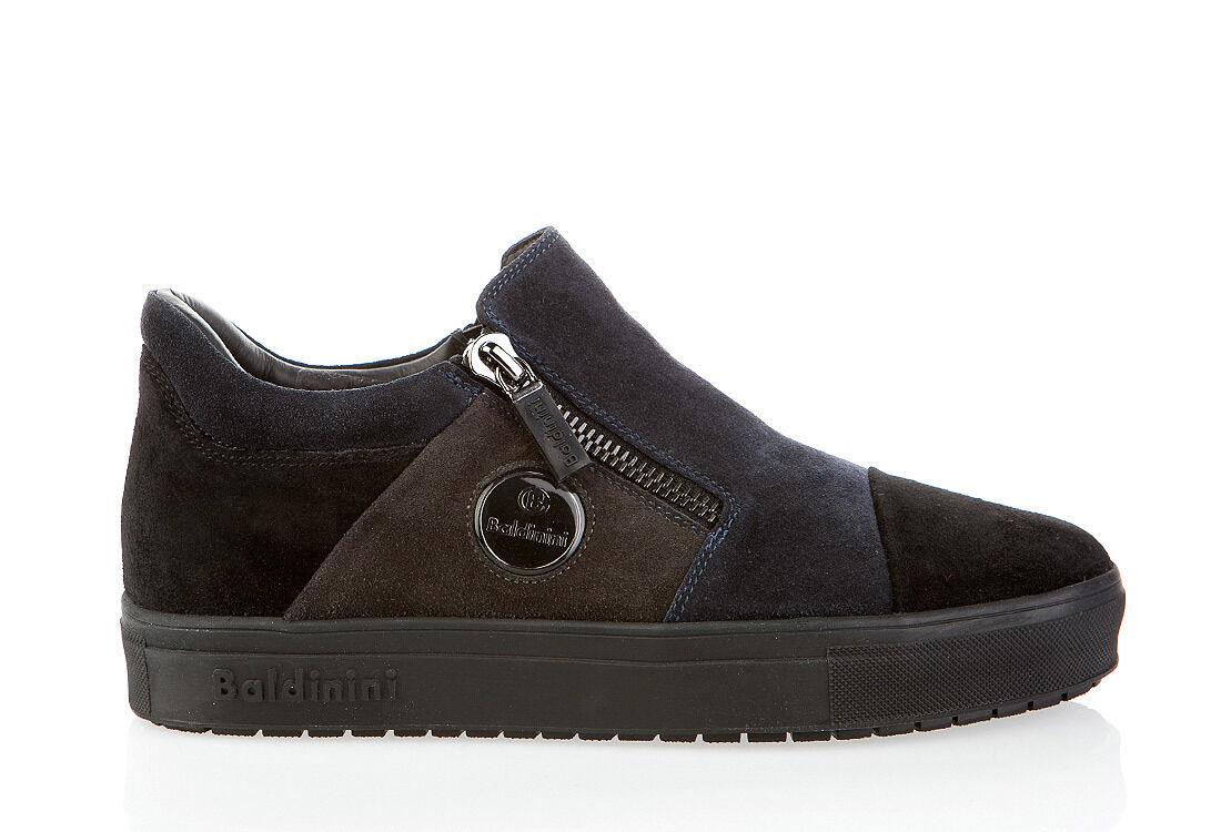 Authentique Baldinini Chaussures en daim bleu nouveau italien tailles 7,8,10