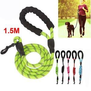 5-FT-Strong-Dog-Rope-Leash-Lead-Training-Padded-Handle-Reflective-Threaded-Nylon