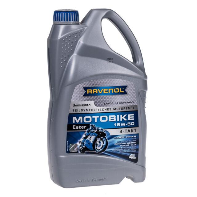 4 Liter Ravenol Motobike 4-T Ester 15W50 Motorrad