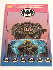 Details about DC Comics 1992 BATMAN Returns A Big Coloring Book Golden