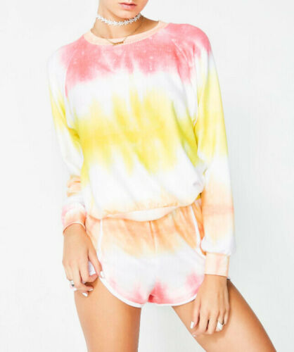 Wildfox Womens Sorbet WSV19019Y Sweatshirt Relaxed MLTI Multicoloured Size S
