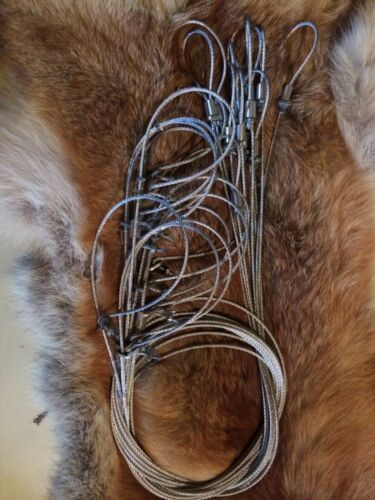 """SALE 1 dz 60/"""" micro lock snares with adjustable loop ends trapping traps snares"""
