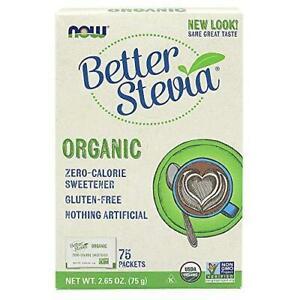 NOW Foods, Certified Organic Better Stevia, Zero-Calorie ...