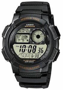 CASIO-AE-1000W-1AV-Men-039-s-Digital-100-Meters-LED-Backlight-Resin-Strap-Watch