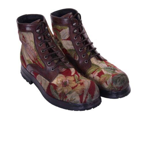 Dolceamp; Stiefeletten Rot Blumen Pietro Boots Braun Gabbana 06966 Stickerei San EH92ID