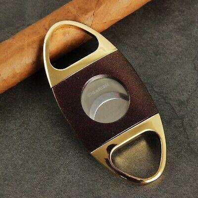 CIGARISM Genuine Carbon Fiber Stainless Steel Cigar Cutter Punch