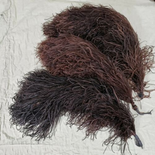 LOT OF 3 ANTIQUE OSTRICH FEATHERS