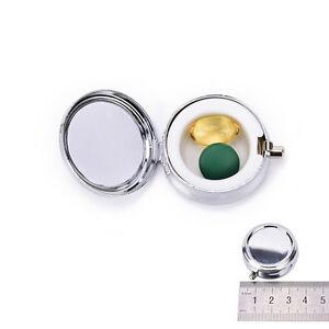 Reisen-Metall-Pillendose-Medizin-Veranstalter-Container-Schmuck-Lagerung-Y4