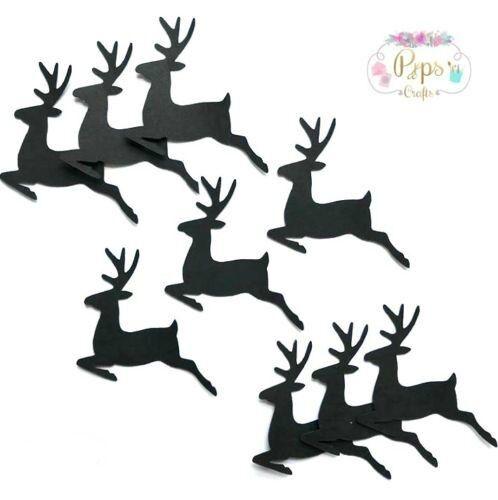 25 Christmas Reindeer Embellishments Christmas Card Making Crafts Scrapbooking