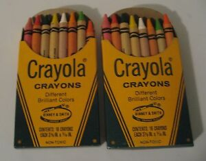 2 boxes of late 1970's #16 Crayola Crayons