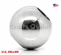 Wholesale Stainless Steel Spacer Beads Jewelry Findings Making 10mm Dia