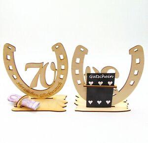 70-Geburtstag-Geldgeschenk-Hufeisen-aus-Holz-mit-Gravur-Geschenkegutschein