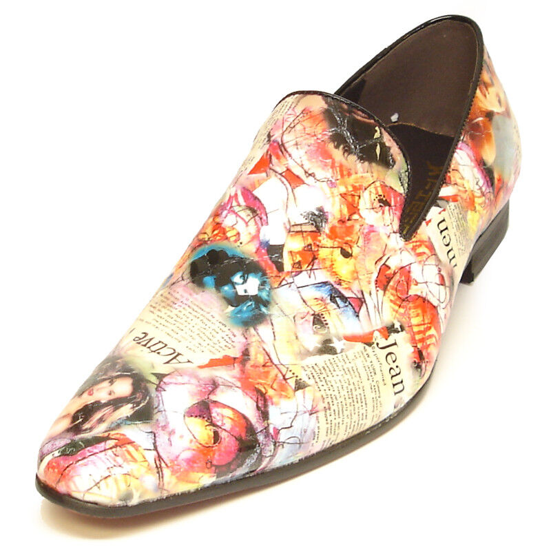 FI-6793 Lady Magazine Multi color Slip on Loafer Fiesso by Aurelio Garcia