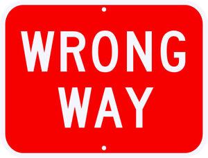 wrong way sign real 3m engineer grade reflective dot compliant 30 x