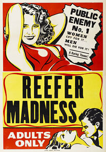 AD98-Vintage-Reefer-Madness-Marijuana-Anti-Drugs-Poster-Print-A4