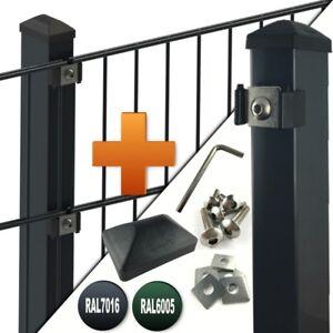 Doppel Stab-Matten Zaun Doppelstabmattenzaun Zaunpfosten Gittermatten Metallzaun