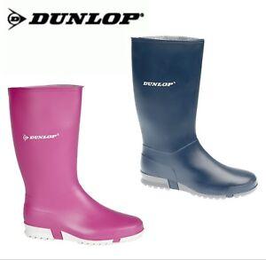 Dunlop Sport Pink Blue Purple Red Ladies Wellington Wellies Boots Sizes 4 5 6 7