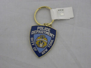 NYPD Metal Key Chain Police Department of New York City NEW