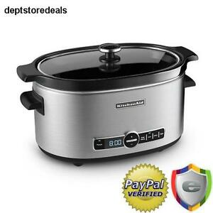Kitchenaid 6 Quart Programmable Home Kitchen Crock Pot Crocks Slow Cooker Cook