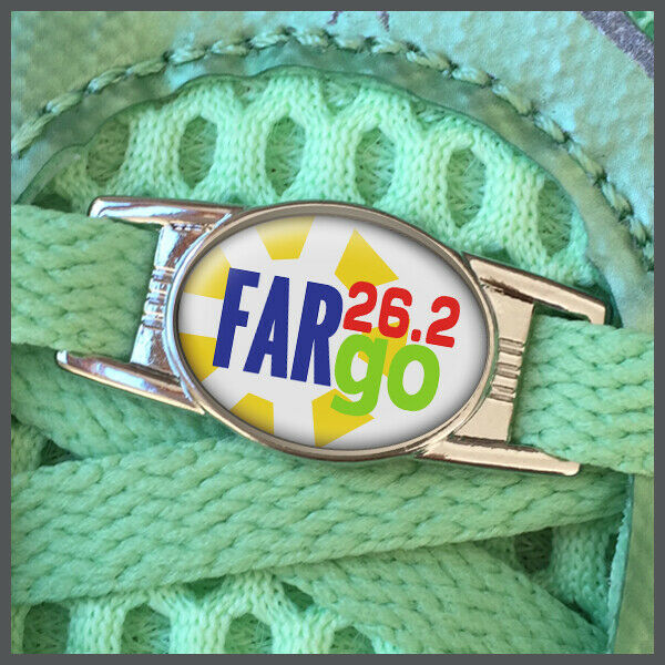 Fargo 26.2 Marathon Runners Shoelace Shoe Charm or Zipper Pull