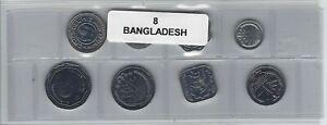 Humble Bangladesh Série De 8 Pièces De Monnaie
