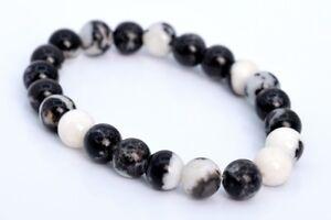 8MM Black /& White Zebra Jasper Beads Grade AAA Genuine Natural Micro Faceted Round Gemstone Loose Beads 47  24 Pcs 103125