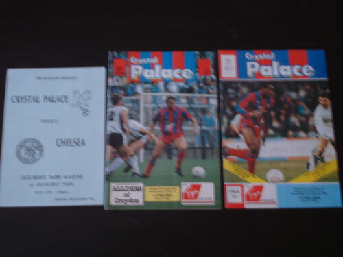 Crystal Palace v Chelsea 198990 Zenith Data Systems Cup Football programme