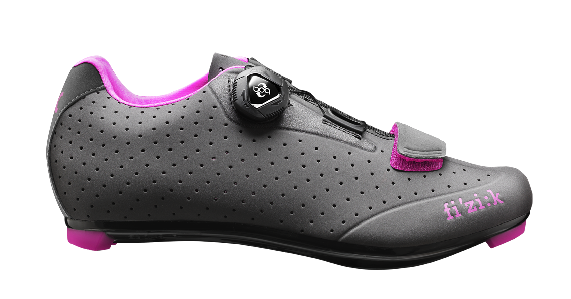 chaussures Fizik r5b w Charcoal Fuchsia Taille No. 38