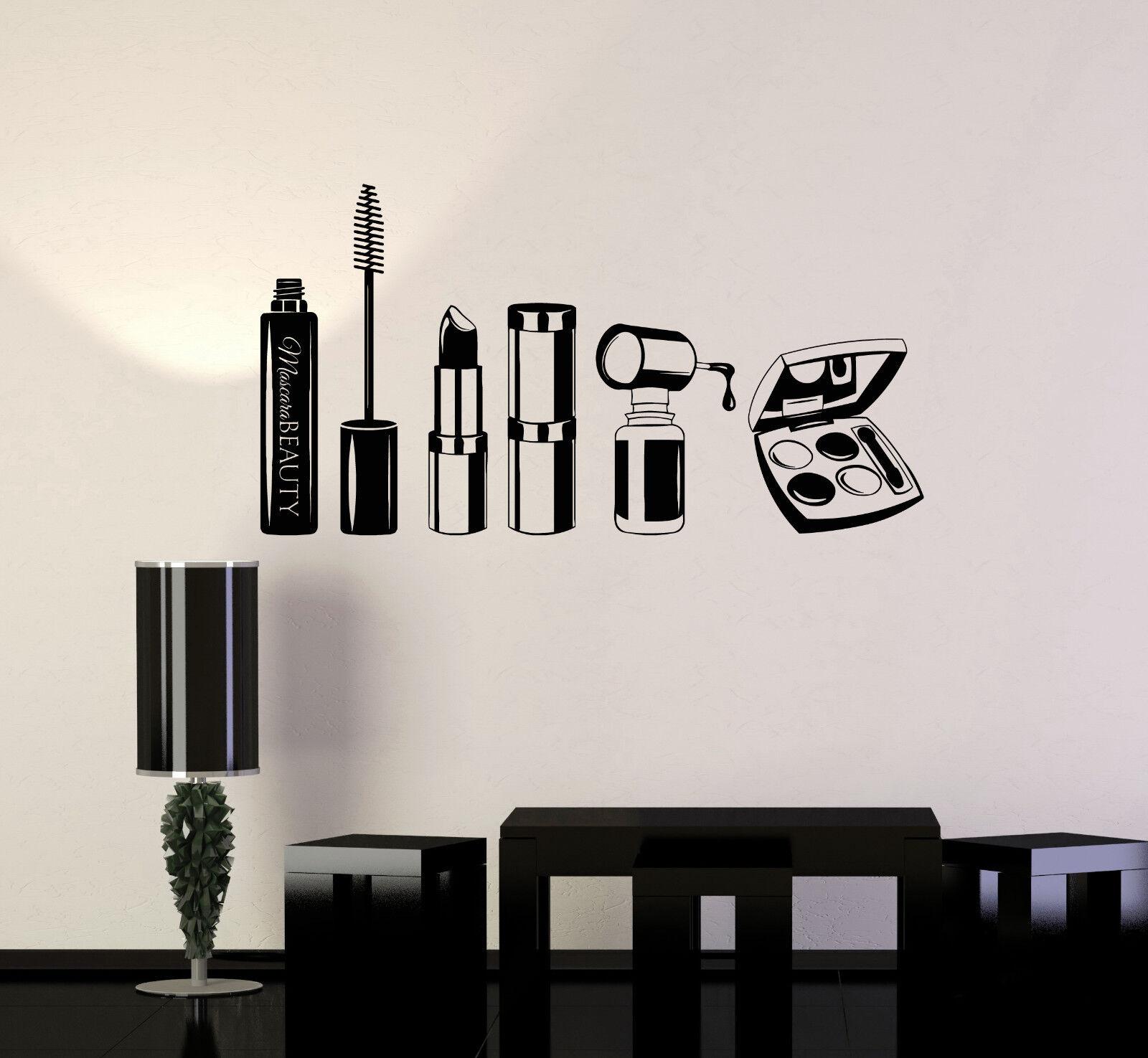 Vinyl Wand Decal Beauty Salon Mascara Stylist Woman Mädchen Room Mural (ig5042)